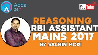 Preparation of Reasoning for All Bank Competitive Exams (Pre/Mains)  By Sachin Modi