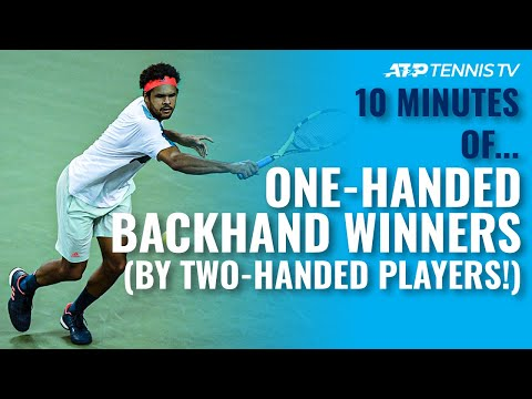 one-handed backhand winners from players with a two-handed backhand