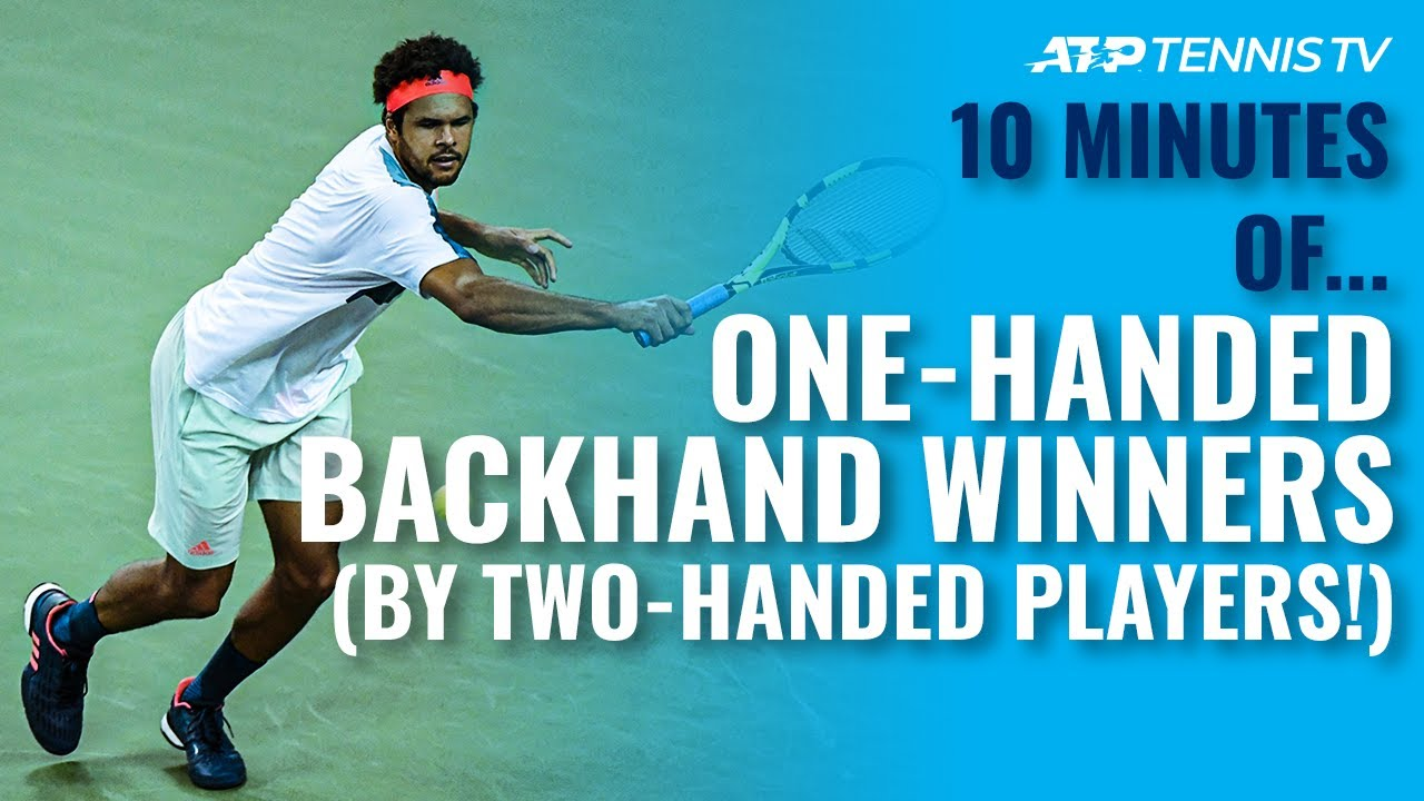 10 MINUTES OF: Amazing One-Handed Backhand Winners From Tennis Players With A Two-Handed Backhand!