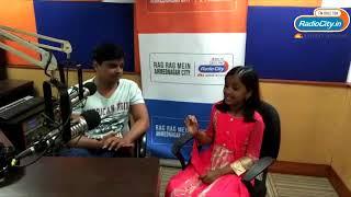 Little Champ Anjali Gaikwad in Radio City Studio with Rj Prasanna