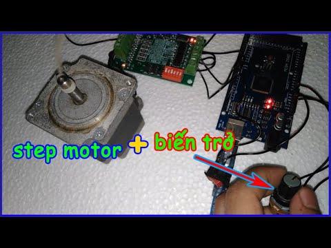 VTM – Hướng dẫn điều tốc động cơ bước (Step motor) bằng biến trở và module TB6560 + Arduino.