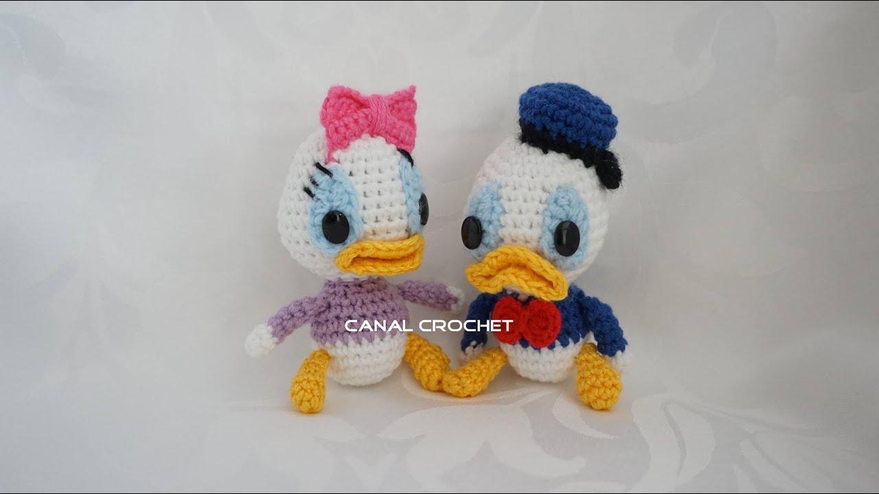 Amigurumi Disney Tutorial : Donald y Daisy amigurumi tutorial - YouTube