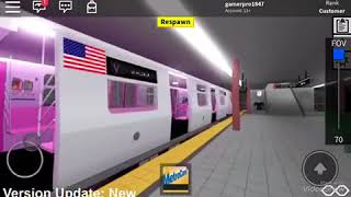 ROBLOX RARE R42 AND UNKNOWN V TRAIN VIA THE A AND C LINE