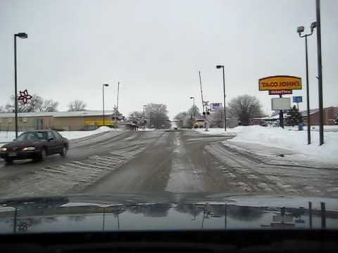 Icy Trip Around South Sioux City, Nebraska
