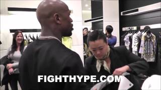 WHAT DOES FLOYD MAYWEATHER SHOP FOR PRIOR TO BIGGEST PAYDAY? VERSACE, PYTHON, GUCCI & MORE!
