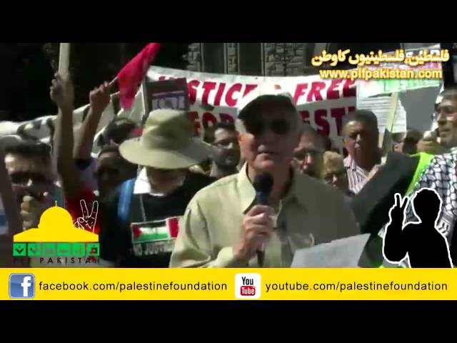 PLF Al-Quds Rally Toronto -Speech by Khalid Muammar - Palestinian Christian - English