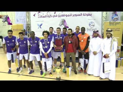 Presentation ceremony - Super Futsal Tournament for Employees 2017