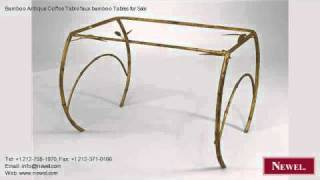 Bamboo Antique Coffee Table Faux Bamboo Tables For Sale