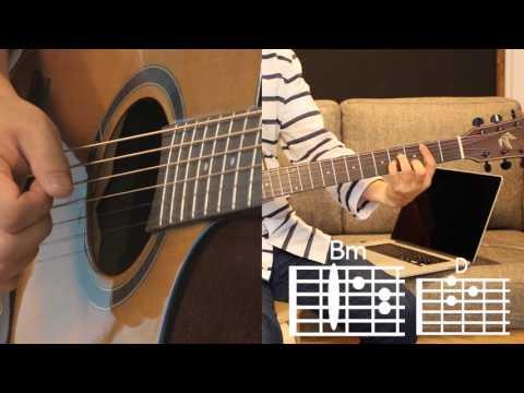 [Asomeguitar] Dinosaur - AKMU Guitar Tutorial Level  ★ ★ ☆ ☆ ☆