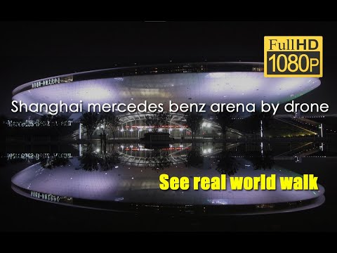 Shanghai mercedes benz arena by drone