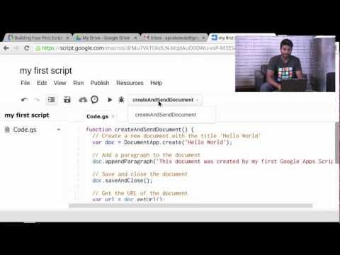 Your First Script - Apps Script Tutorials