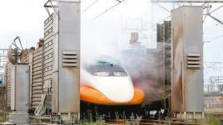 高鐵洗車畫面曝光 34組列車年花1.2億