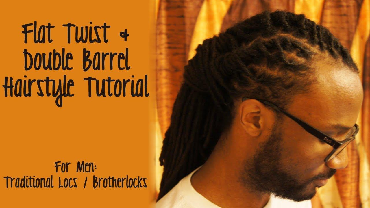 Tutorial Flat Twist  Double Barrel Hairstyle  YouTube