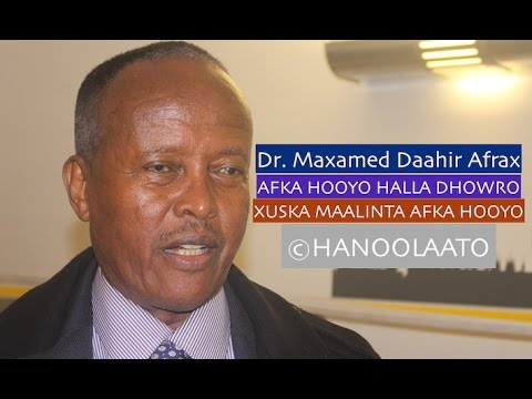 Image result for DR. MAXAMED DAAHIR AFRAX