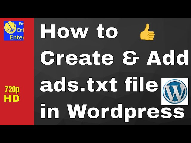 How to Create & Add Ads.txt file in Wordpress(Hindi)