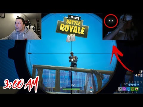 DO NOT PLAY FORTNITE AT 3 AM!! (GHOST PLAYS MY FRIENDS ACCOUNT)