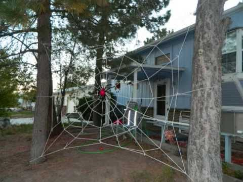 how to make a large spiderweb