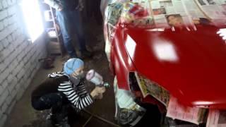 Девушка красит машину(, 2016-02-23T18:29:05.000Z)