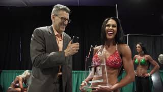 Interview with Ashley Kaltwasser right after she won the IFBB Pro League Mile High Pro