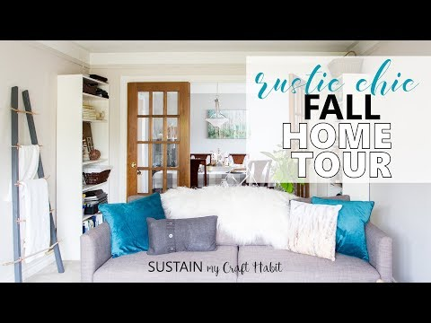 2017 RUSTIC CHIC FALL HOME TOUR! Featuring Natural Textures and Jewel Tones