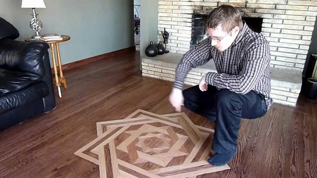 Building A Floor Medallion DIY   YouTube