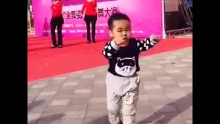 Chinese Kid Upstages Dancers
