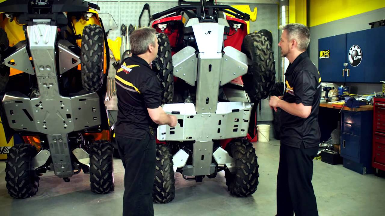 Can Am Off Road Atv Skid Plates Youtube