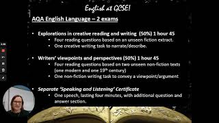 English @ KS4 - 2021 Core subject