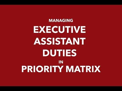 Managing Your Executive Assistant Duties In Priority Matrix