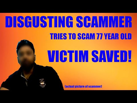 Tech Support Scammer Tries to Scam a 77 Year old Lady! (VICTIM SAVED)