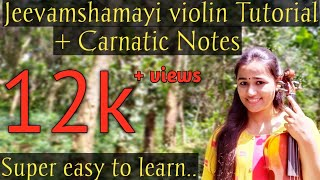 How to play Jeevamshamayi on violin | Easy Violin Tutorial | Theevandi | Kailas menon | TovinoThomas
