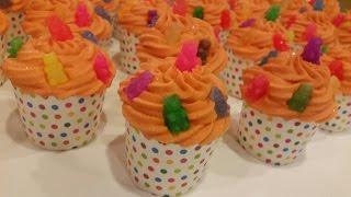 Gummi Bear Bath Fizzer Cupcakes