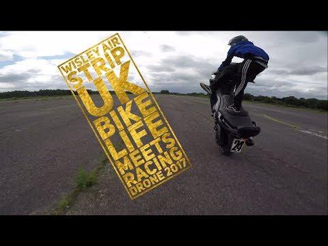 Wisley air strip uk bike life racing drone chase 2017