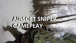 Airsoft Sniper Gameplay - Snow Sniper