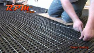 RPM Mats In Floor Heat Installation System
