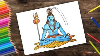 Lord Shiva Drawing Step by Step for beginners