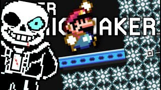 WE WONT LET SANS HAVE HIS REVENGE!! | Undertale Levels | Super Mario Maker
