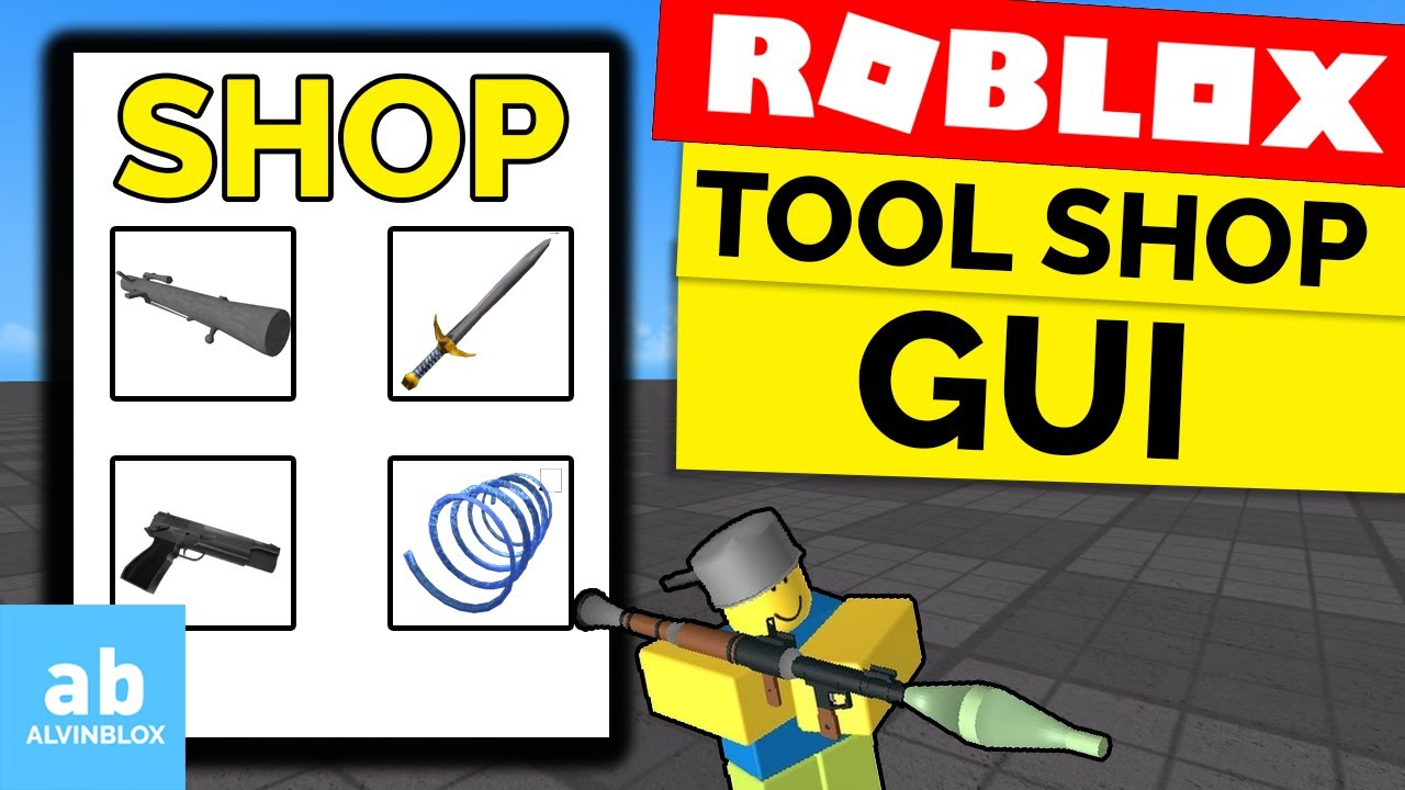 How To Make A Shop Gui On Roblox How To Make A Shop On Roblox Roblox Tool Shop Gui Youtube