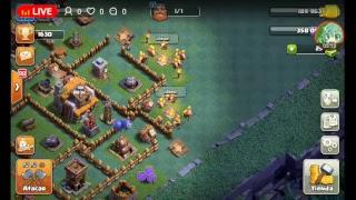 Jugando Clash of Clans y clash royale en vivo (sin hablar)