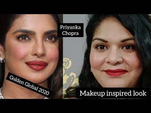 Priyanka Chopra look at Golden Globes 2020#Celebrity inspired makeup look#Zinbuddies
