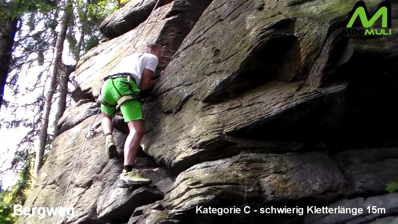 Klettersteig Jonsdorf : Klettersteig wolkensteiner schweiz bergweg youtube