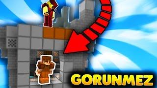 OHA GÖRÜNMEZ OLDUM!  - Minecraft TROLL SKYWARS! (GÖRÜNMEZ ADAM TROLLÜ)