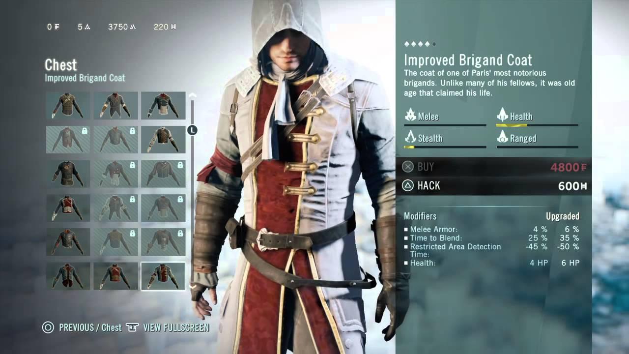 Assassin's Creed Unity All Legendary Equipment ... - YouTube