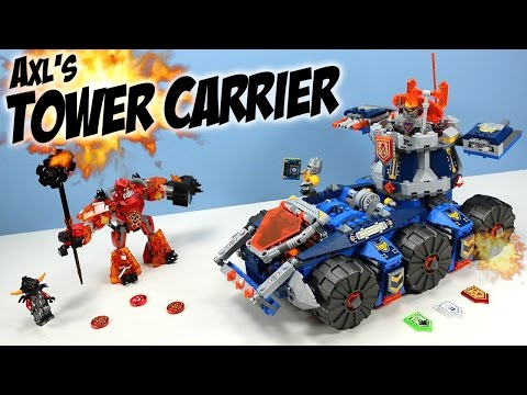 LEGO NEXO Knights Axl's Tower Carrier Set 70322 Review Adventure