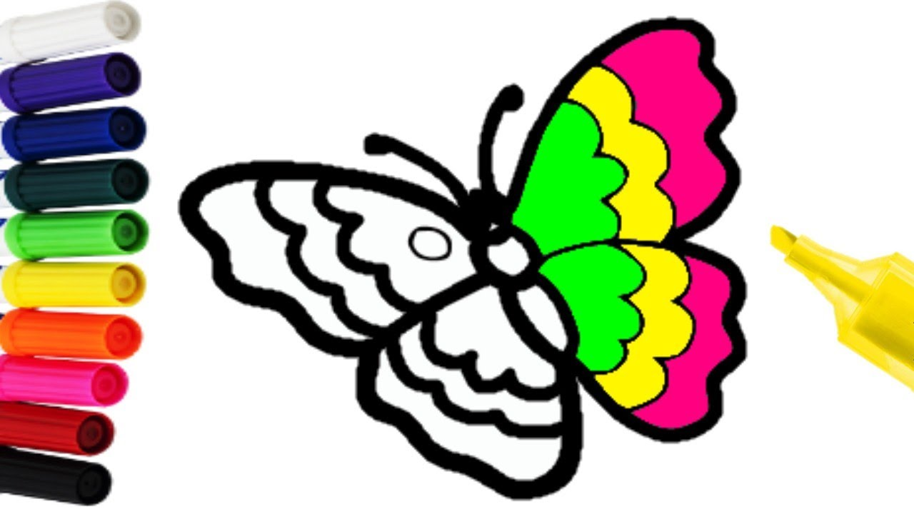 Imagenes De Mariposas De Colores: COMO COLOREAR UNA MARIPOSA MUY FÁCIL CON TEMPERAS DE