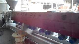 recycling extruder 160 mm. 900 kg/h for PE PP PC ABS Tecnova brand