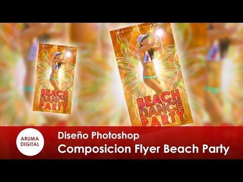 Photoshop 184 Composicion Flyer Beach Dance Party
