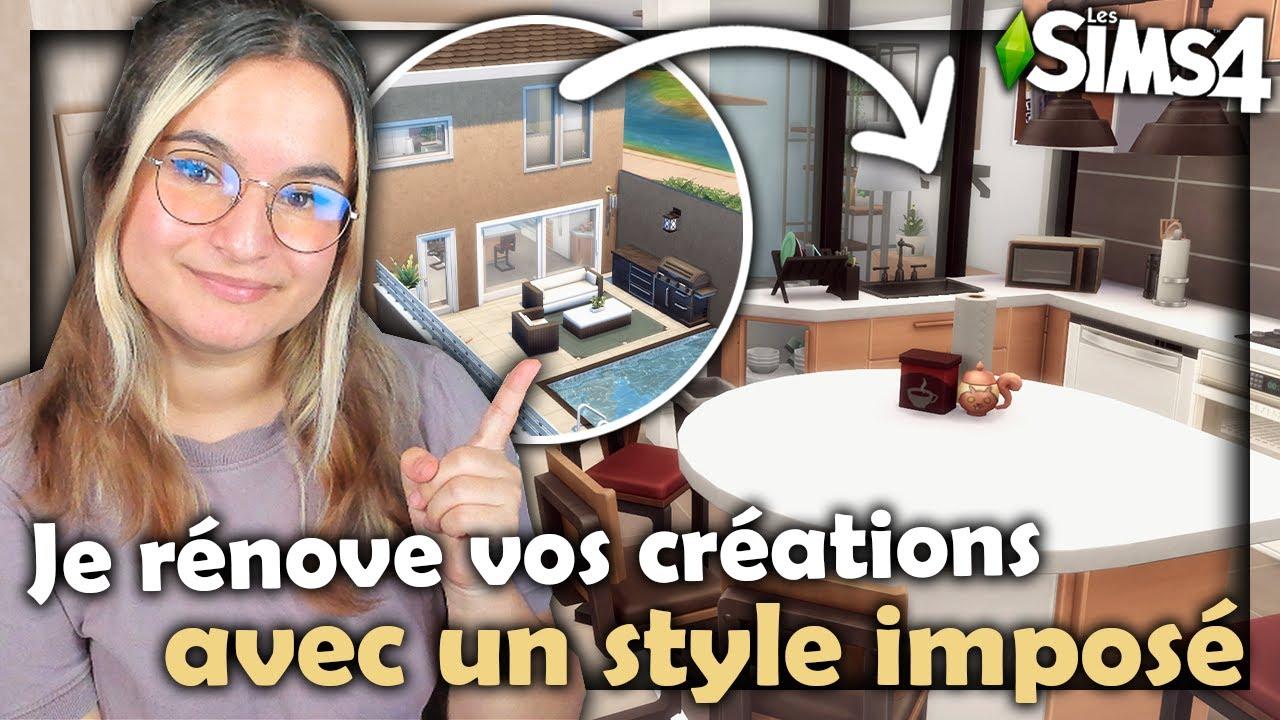 ☾ Je rénove VOS créations, la VRAIE maison d'un abo ? - Sims 4 ☽