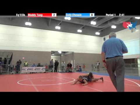 FILA Junior 55 kg / 121.25 lbs. - Maddy Tung vs. Cady Chessin