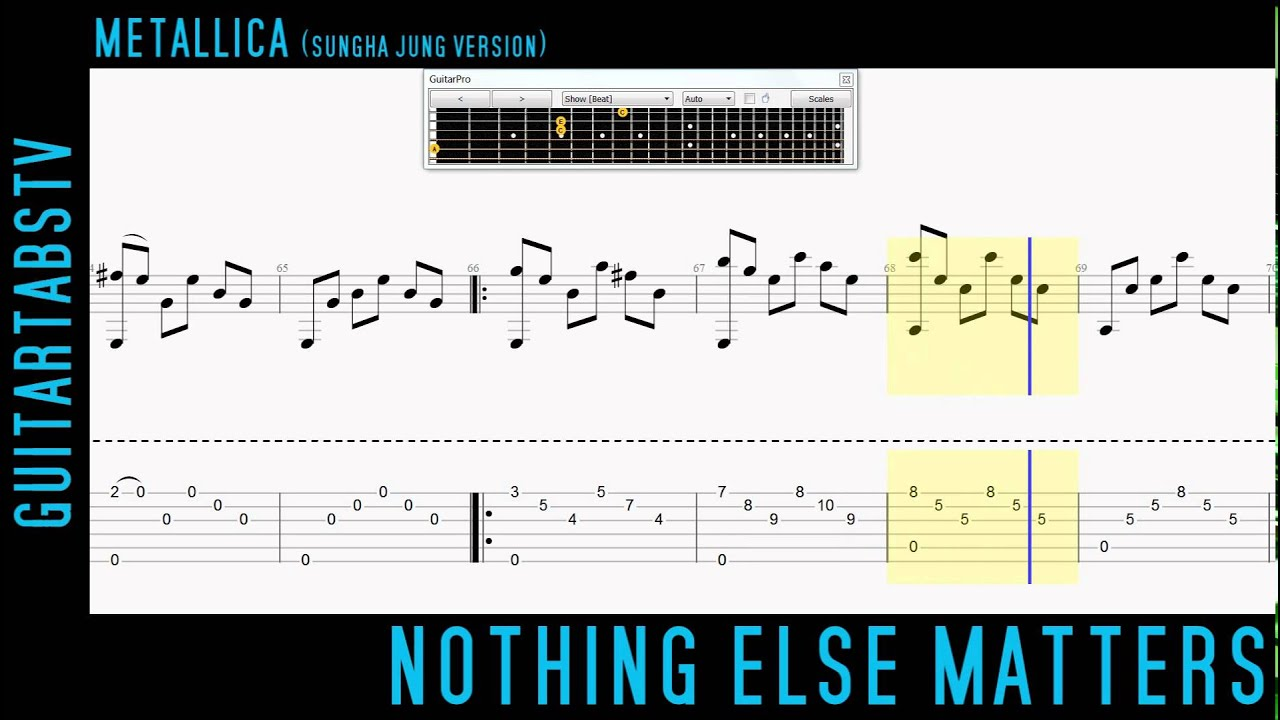 Metallica Nothing Else Matters Fingerstyle Guitar Tabs (Sungha Jung) - YouTube